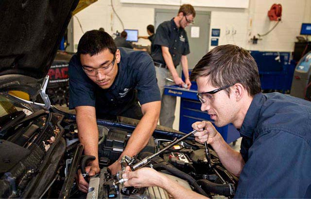 Students from the TCC Automotive program