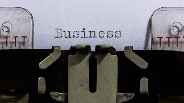 Image: Typewriter with the word business typed on paper