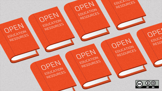 "graphic of books titled ""Open Education Resources"""