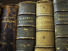Image of older bound volumes of Harper's Magazine