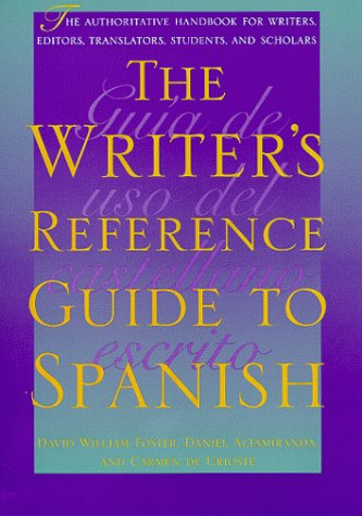 Cover image of The Writer's Reference Guide to Spanish