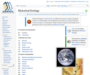 """Book cover image for """"Historical Geology"""""""