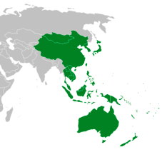A map of Asia-Pacific region
