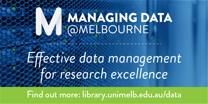 Managing Data @Melbourne Online program title
