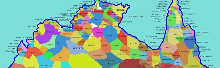 Aboriginal Australian Territories Map Comoros Map Togo Map - Australian language map