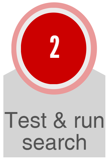 Test and run search