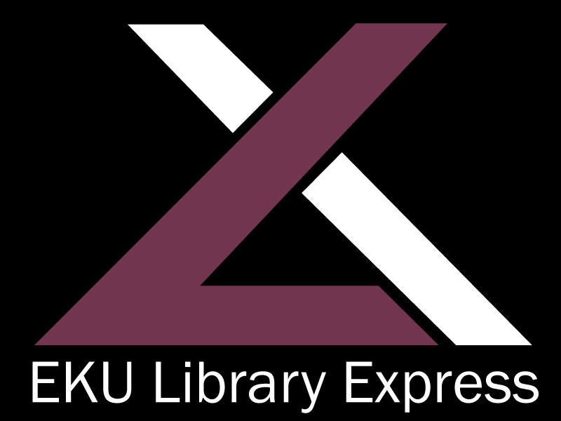 "EKU Library Express logo - a stylized letter ""L"" crossed with an ""X"""