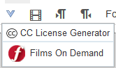 Films on Demand shortcut in Canvas toolbar