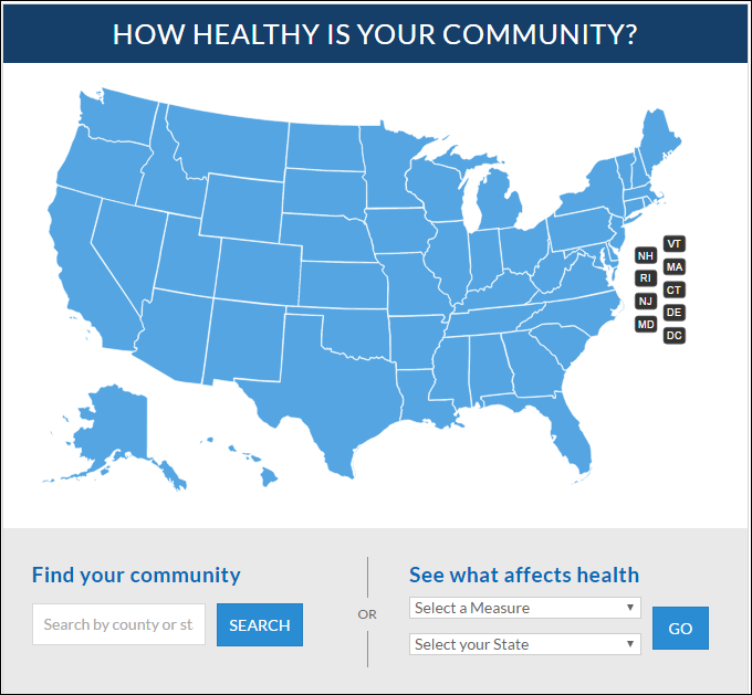 """how healthy is your community?"" button"