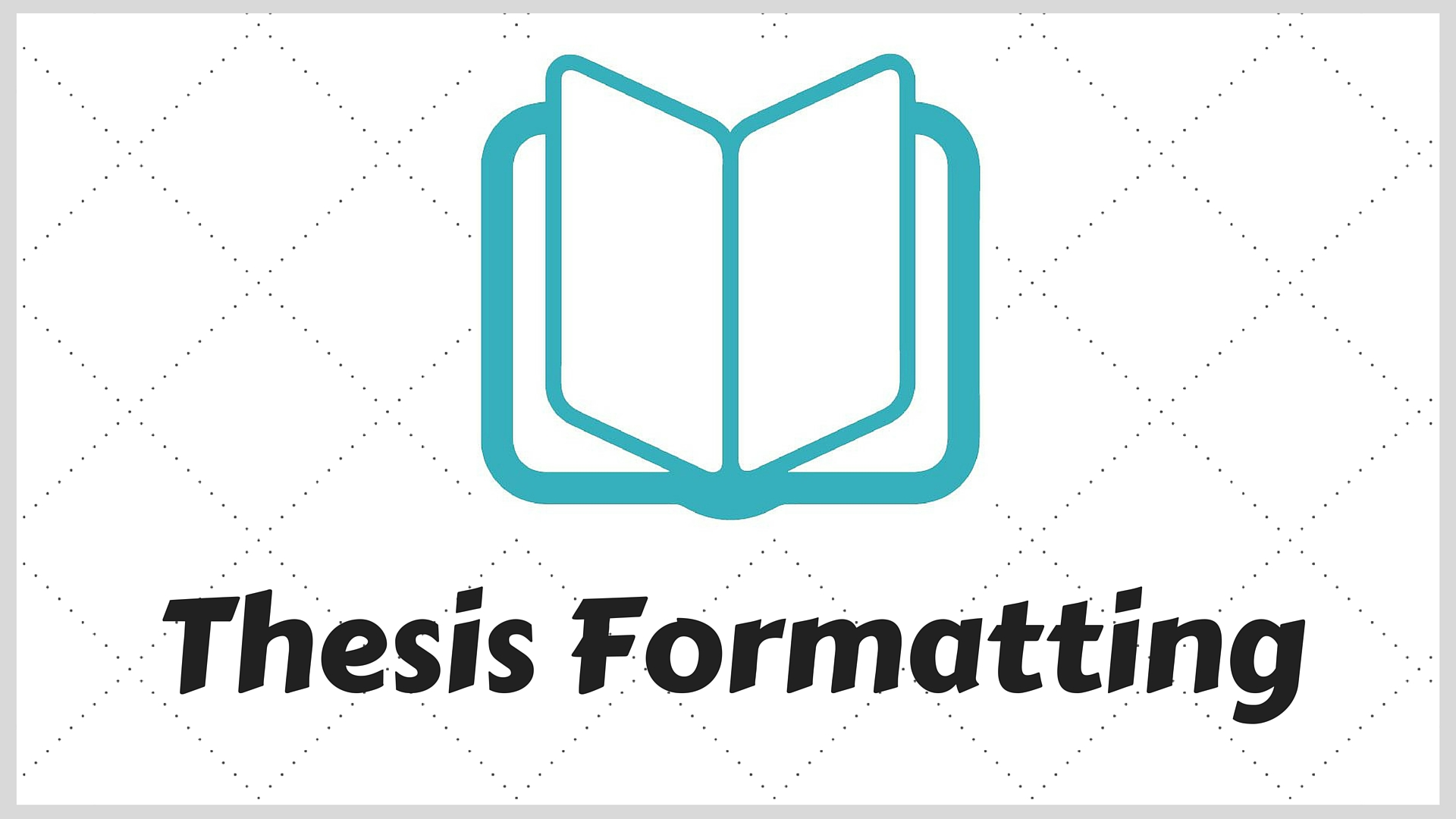 Thesis Formatting - UBC Library Research Commons