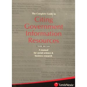 Government resources citation manual cover