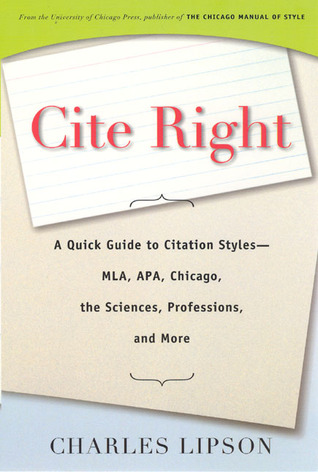 Cite Right book cover