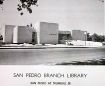 Dedication card for San Pedro Library