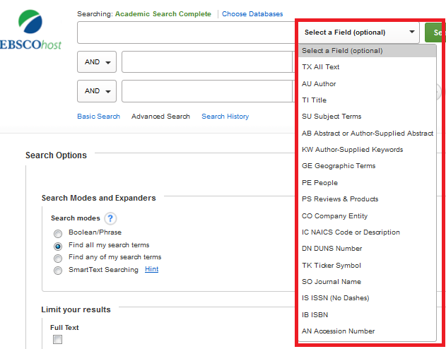 Medical lab technician school of health sciences guides at a field provides a list of fields that can be searched within that database select the field and enter the information in the text box to the left to fandeluxe Images