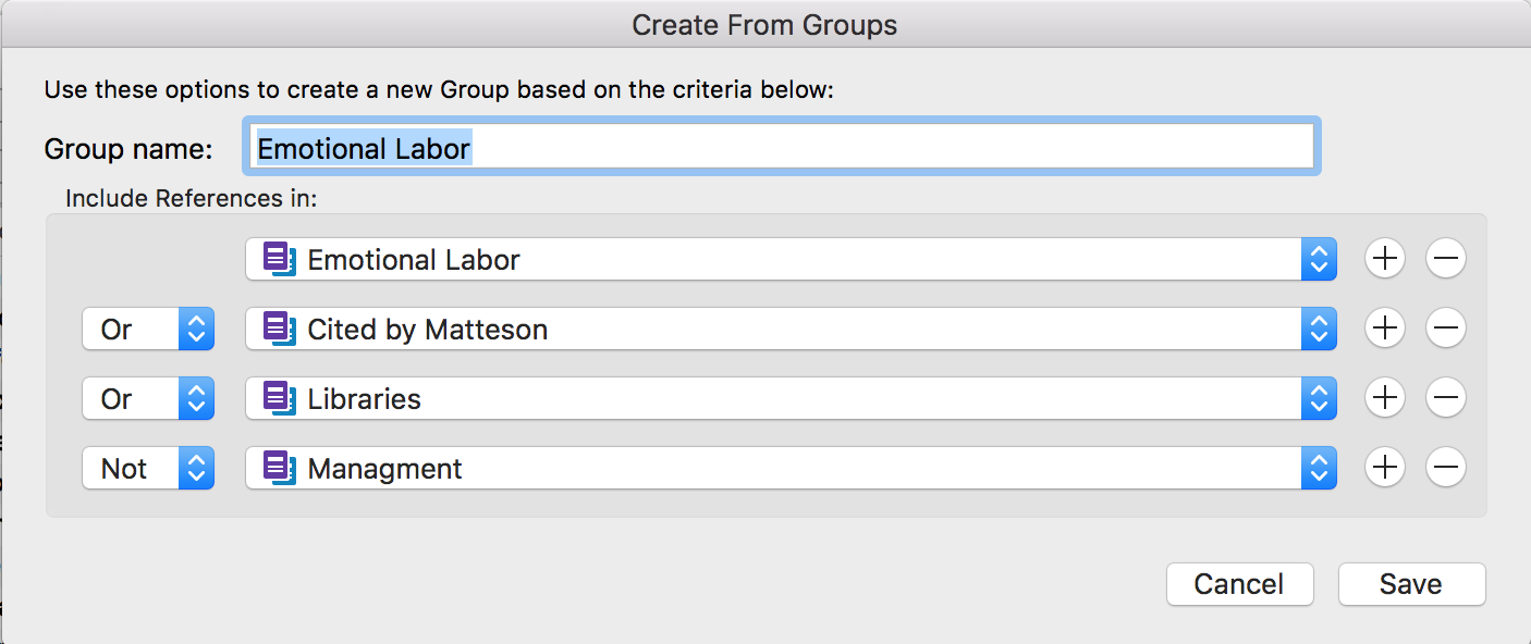 Create a combined group