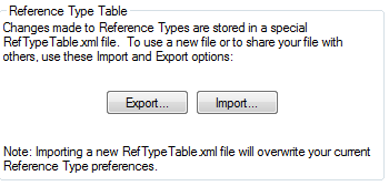 Image of importing and exporting a reference type file