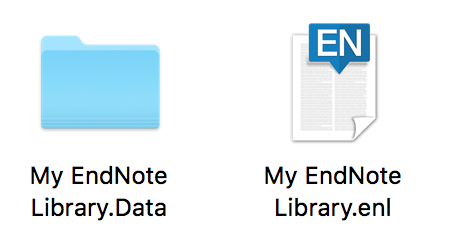 Image of My EndNote Library file and folder