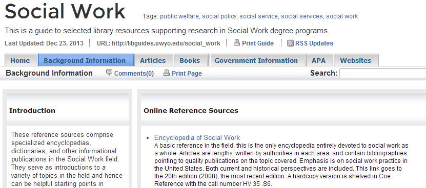 Social Work Research Guide