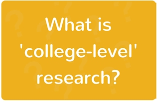 Image: What is college level research?