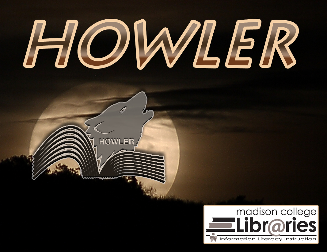 HOWLER logo, Full moon and wolf