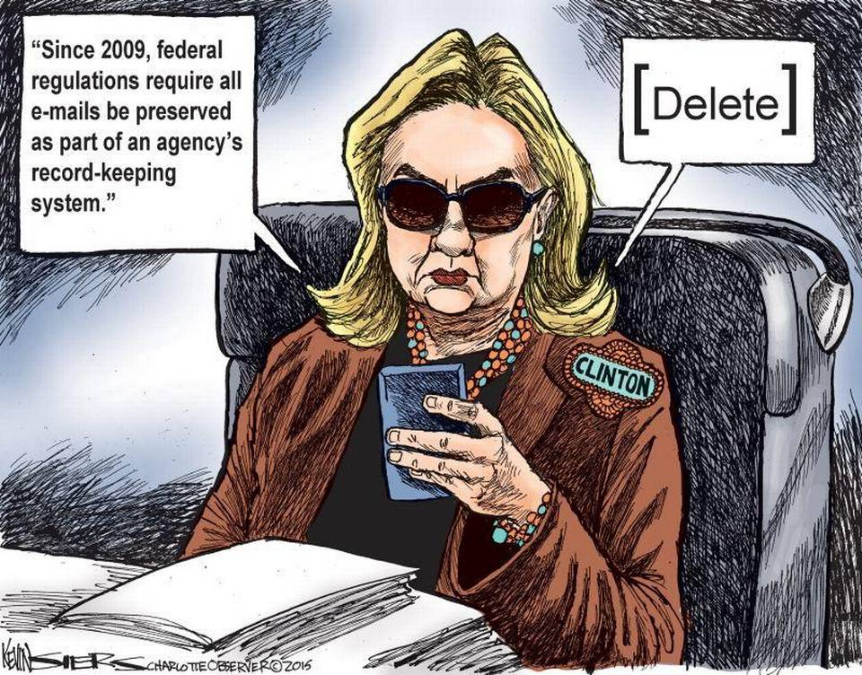 Image: Hillary ignoring regulations to use official email archive