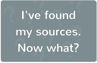 "Image: ""I've found my sources. Now what?"""