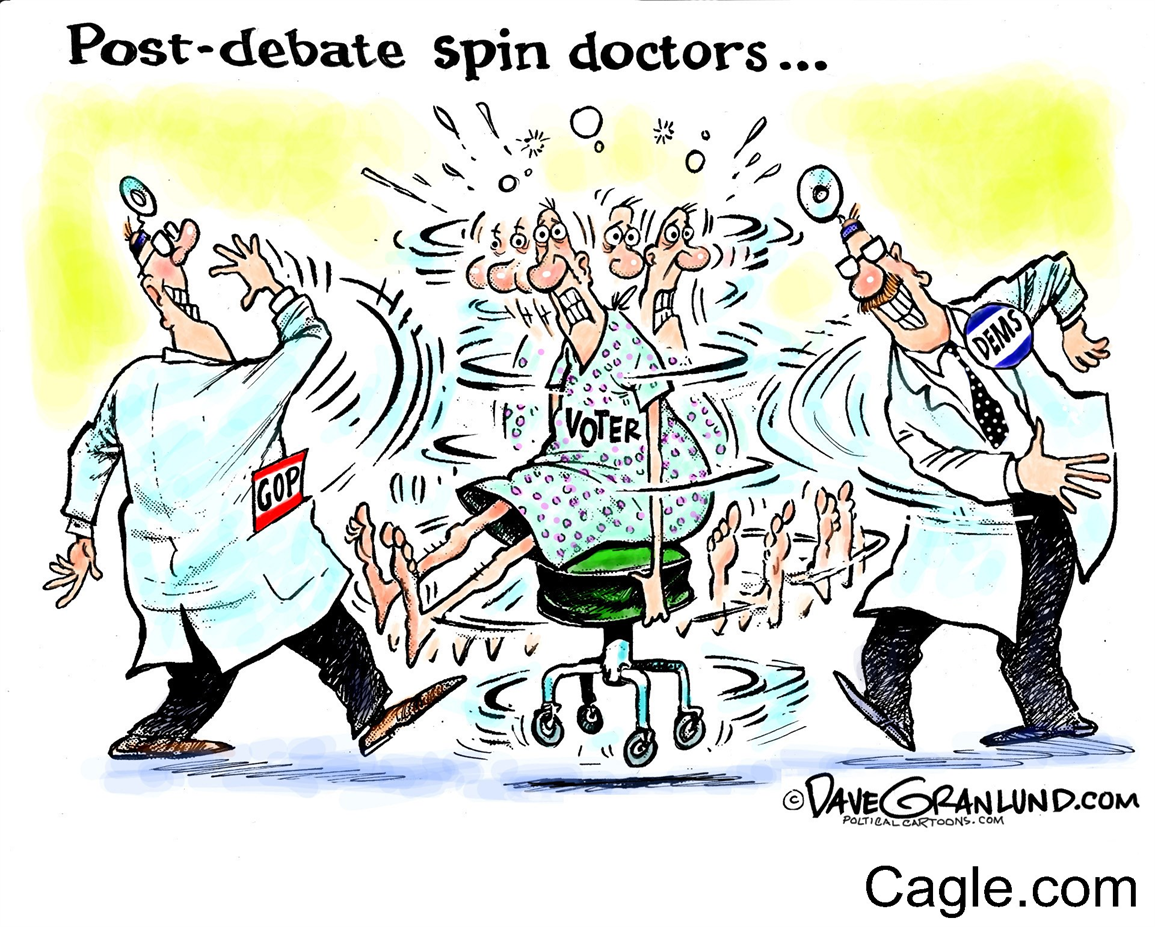Image: Post debate spin of voters