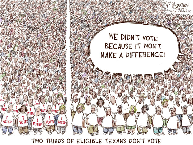Image: Cartoon of the importance of voter turnout