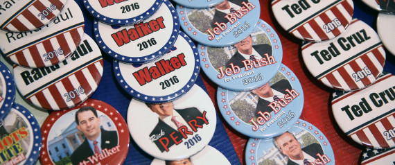 Image: Buttons from GOP candidates for President