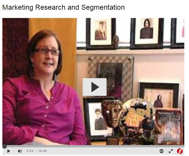 marketing research and segmentation picture of clip from streaming video