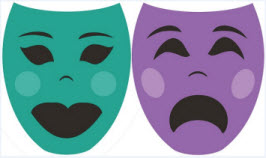 Happy and sad masks