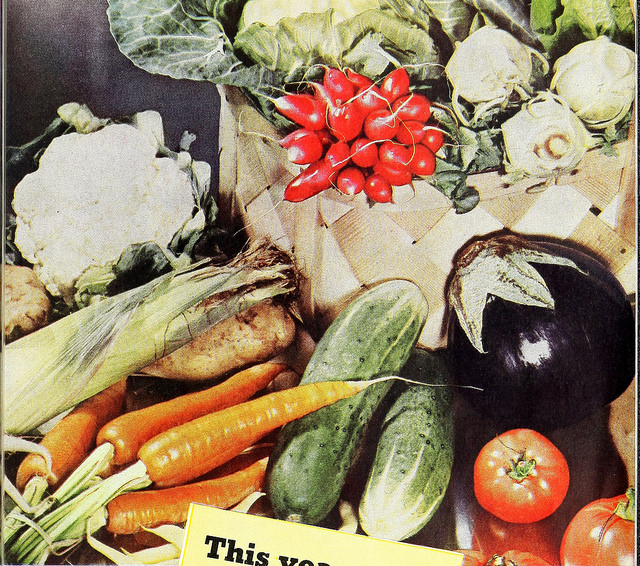 Image of vegetables from a garden manual