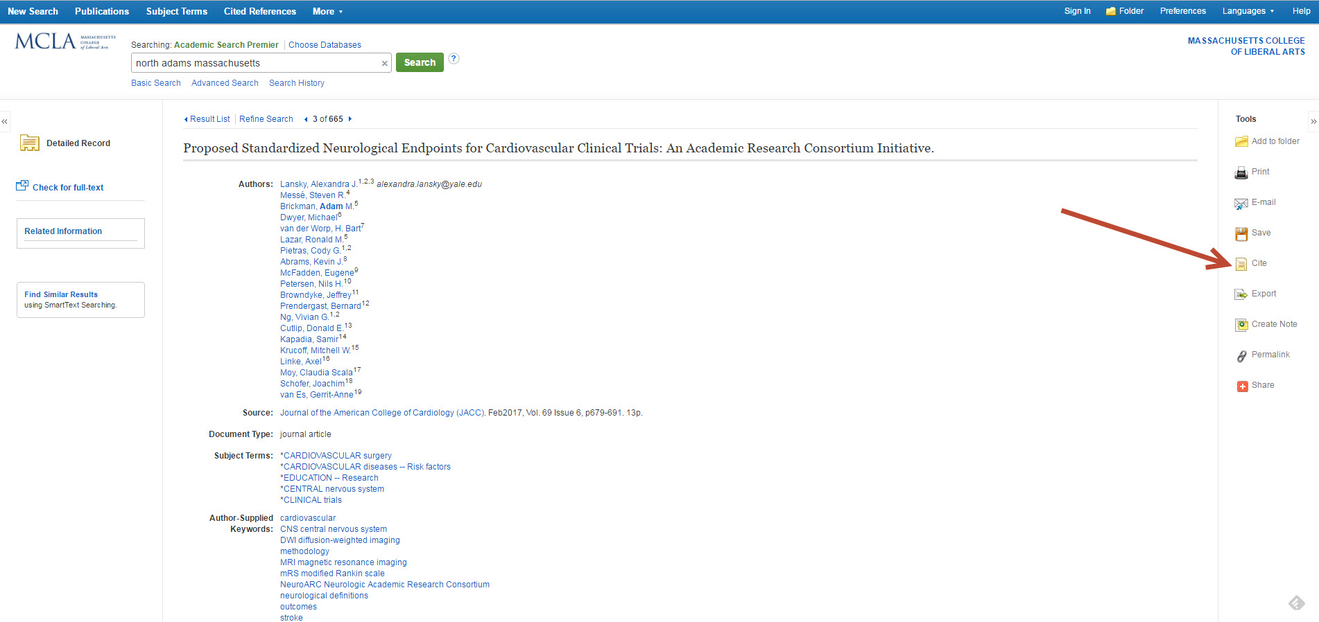 ebsco citation tool