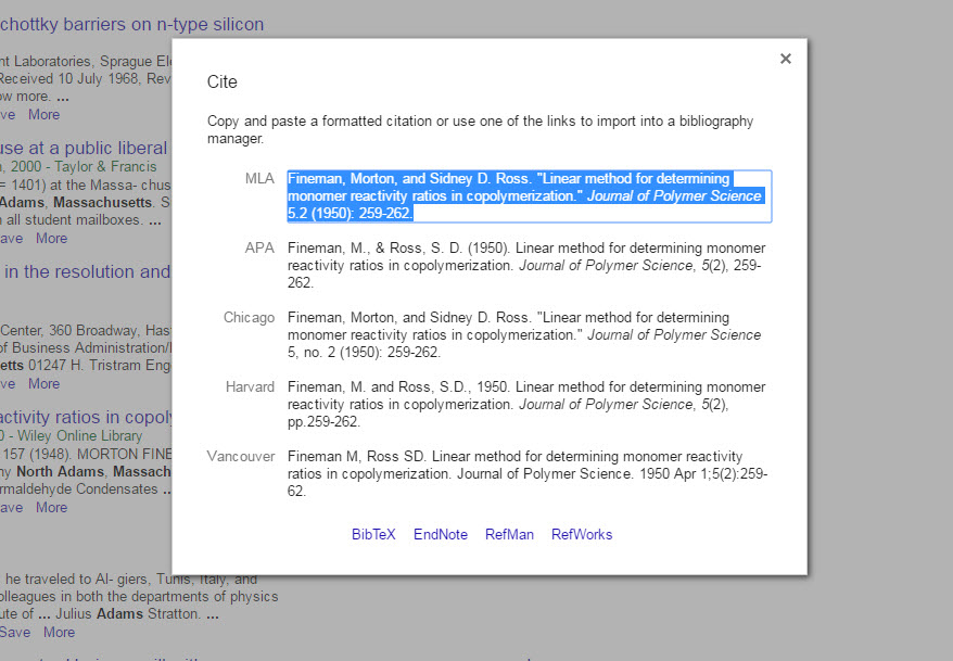 citations in google scholar