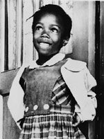 Photo of Ruby Bridges, 1960