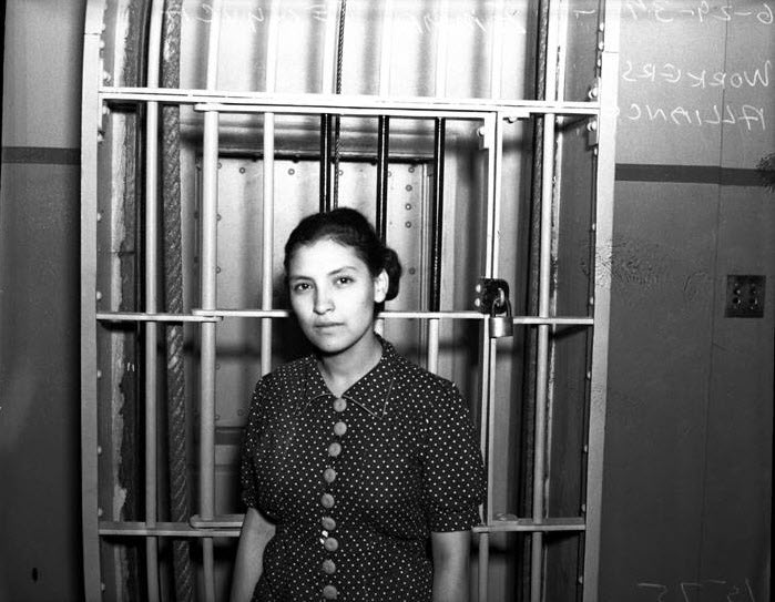 Photo of Emma Tenayuca in Bexar County Jail