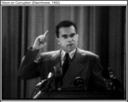 Televised image of Richard Nixon