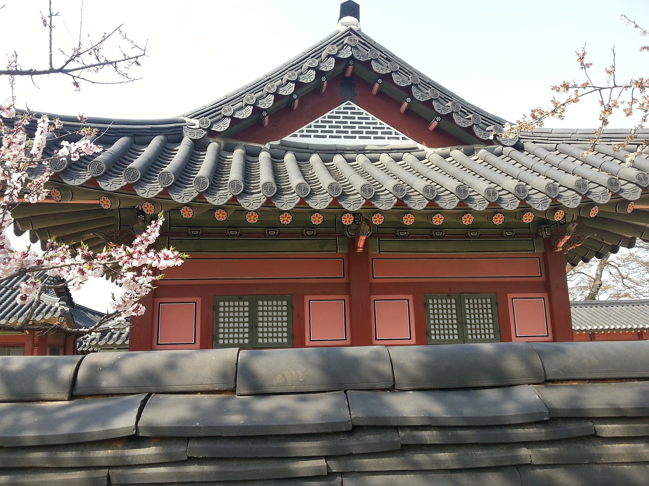 Photo of traditional architecture in Hanok, Republic of Korea