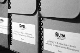 Photo of archival boxes