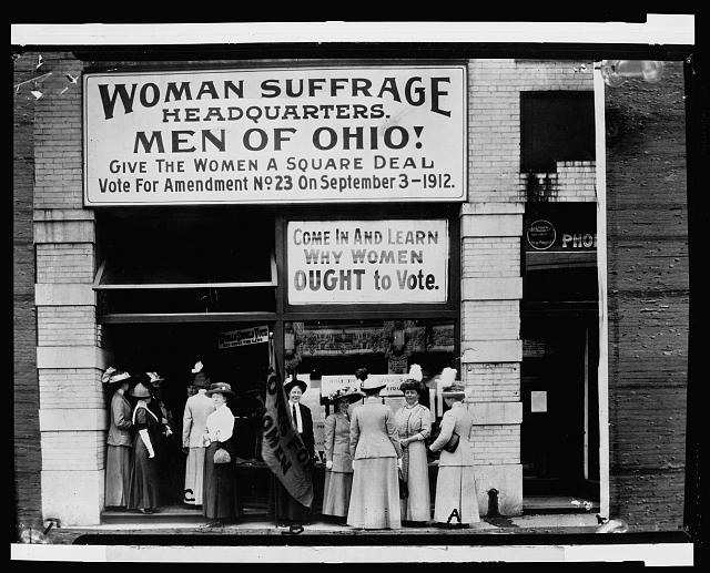 Photo Woman Suffrage Headquarters, Cleveland, OH, 1912