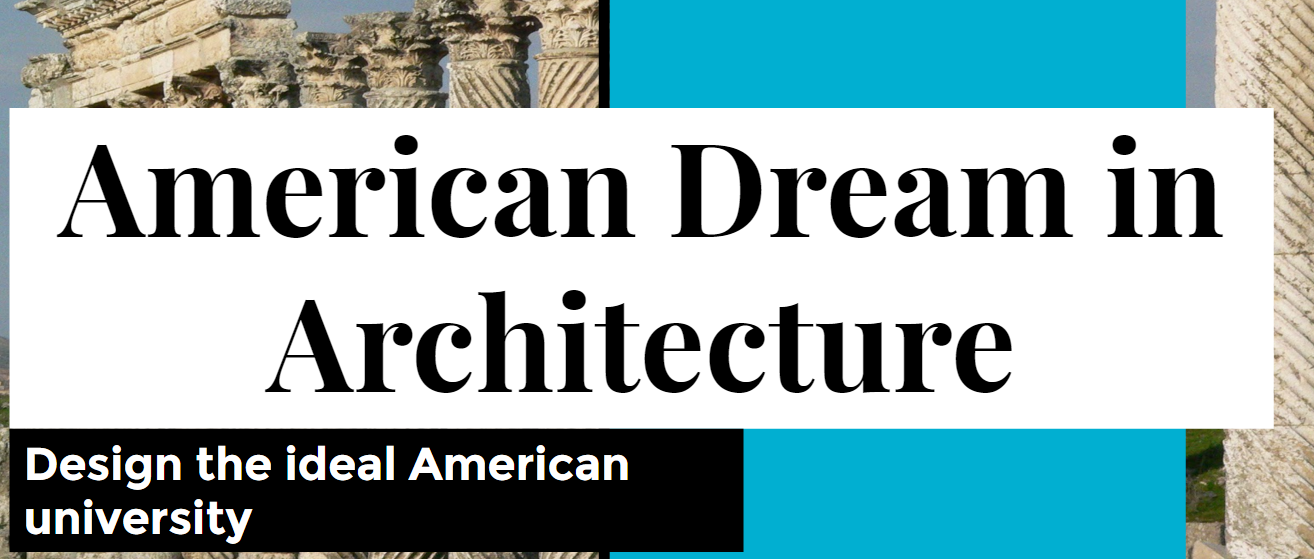 American Dream in architecture graphic