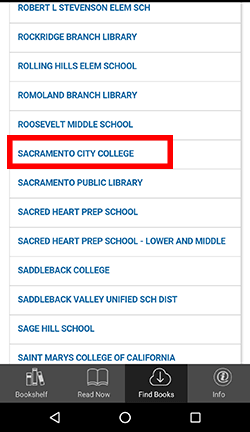Find a Library; Sacramento City College displayed