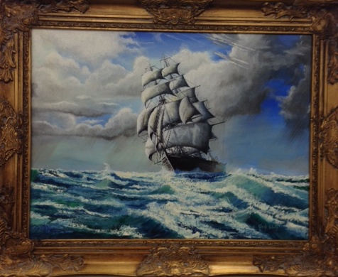 painted picture of sailing ship