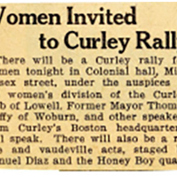 Women's Invited to Curley Rally