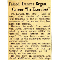 Famed Dancer Began Career in Exercise