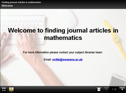 Screenshot of online tutorial
