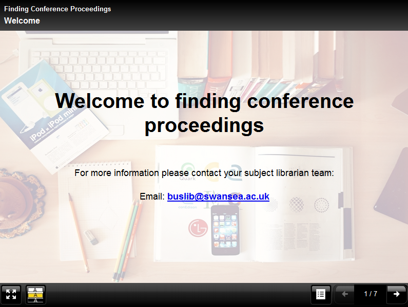 Finding Conference Proceedings short course