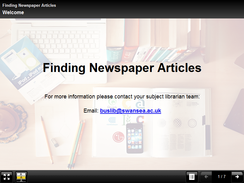 Finding newspaper articles tutorial