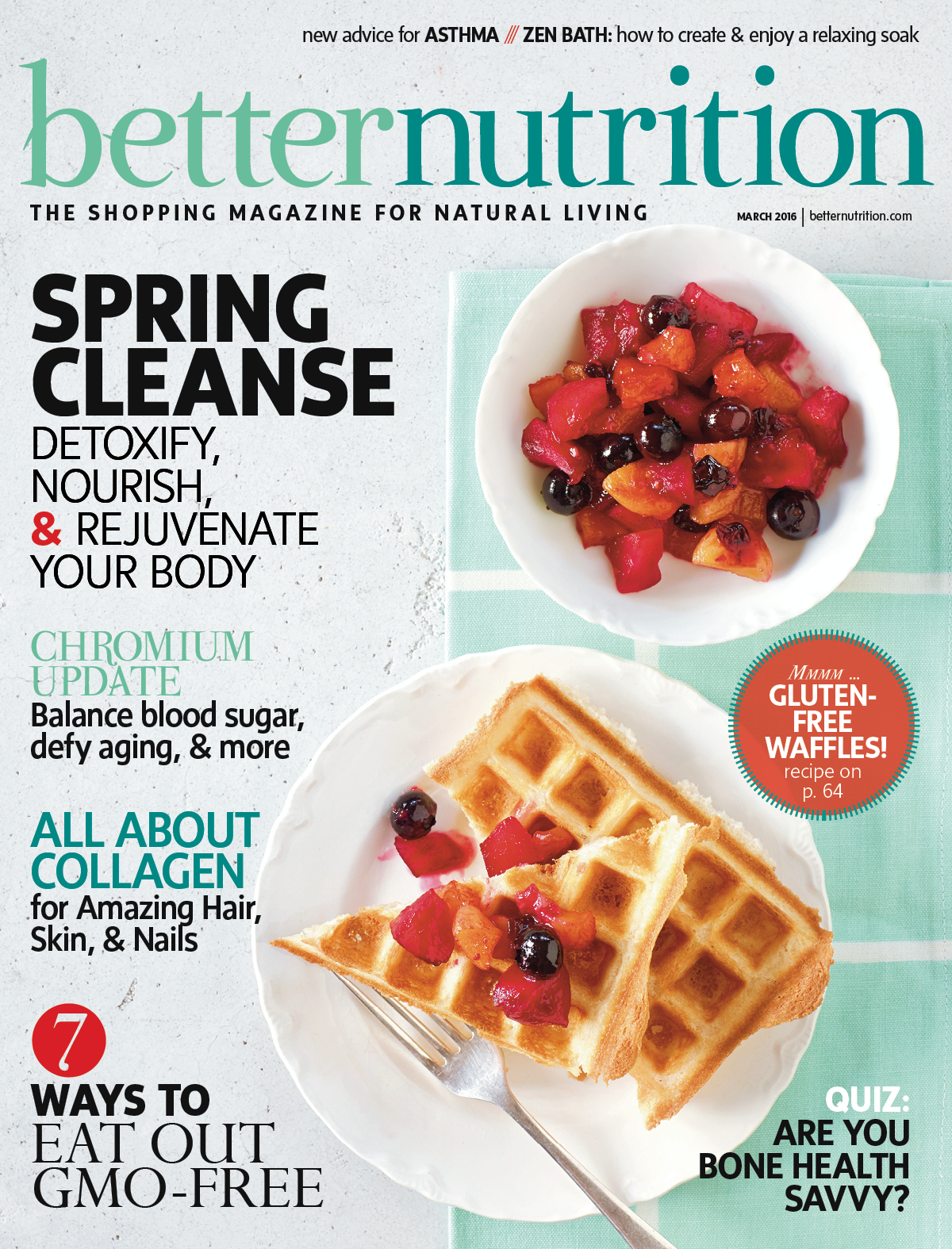 Better Nutrition magazine cover