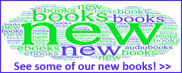 word cloud image of new books
